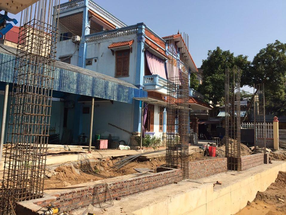 09/03/2020 Cột tầng 1 dự án nhà thể thao đa năng - trường mầm non Thế Hệ tỉnh Ninh Bình