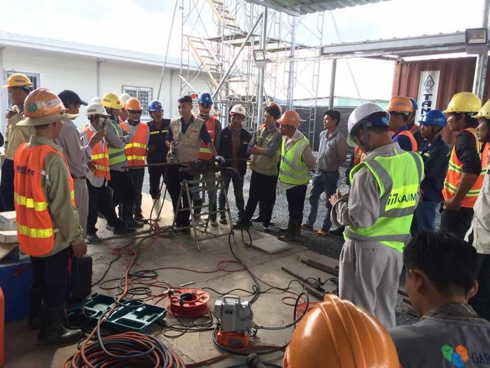 2018091014 Đào tạo học viên cho nhà thầu Kajima Việt Nam, Trung Dũng, Nam Việt tại dự án SMC KCN Long Đức - Long Thành