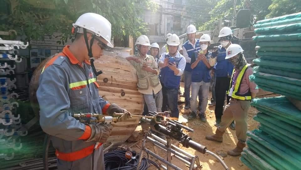 20191220 Trình diễn hàn mẫu công nghệ hàn EcoSpeed Việt Nam cho Ban QLDA, TVGS dự án Bcons Miền Đông.