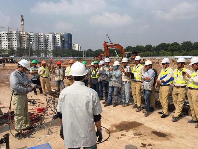 Trình diễn hàn mẫu công nghệ hàn EcoSpeed tại công trình của Obayashi Vietnam - HCM
